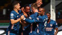 Foot - ANG - Premier League: Arsenal se balade à Fulham grâce à des buts de Lacazette, Gabriel et Aubameyang