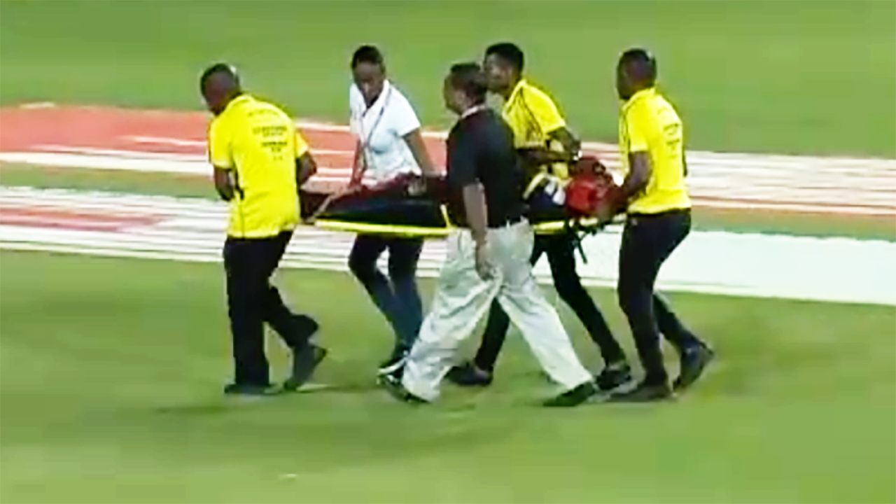 'Oh my goodness': Terrifying moment rocks cricket world