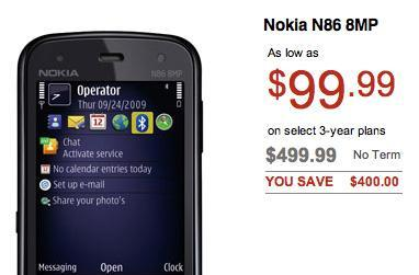 Rogers vends Nokia N86, $100 on a three-year deal
