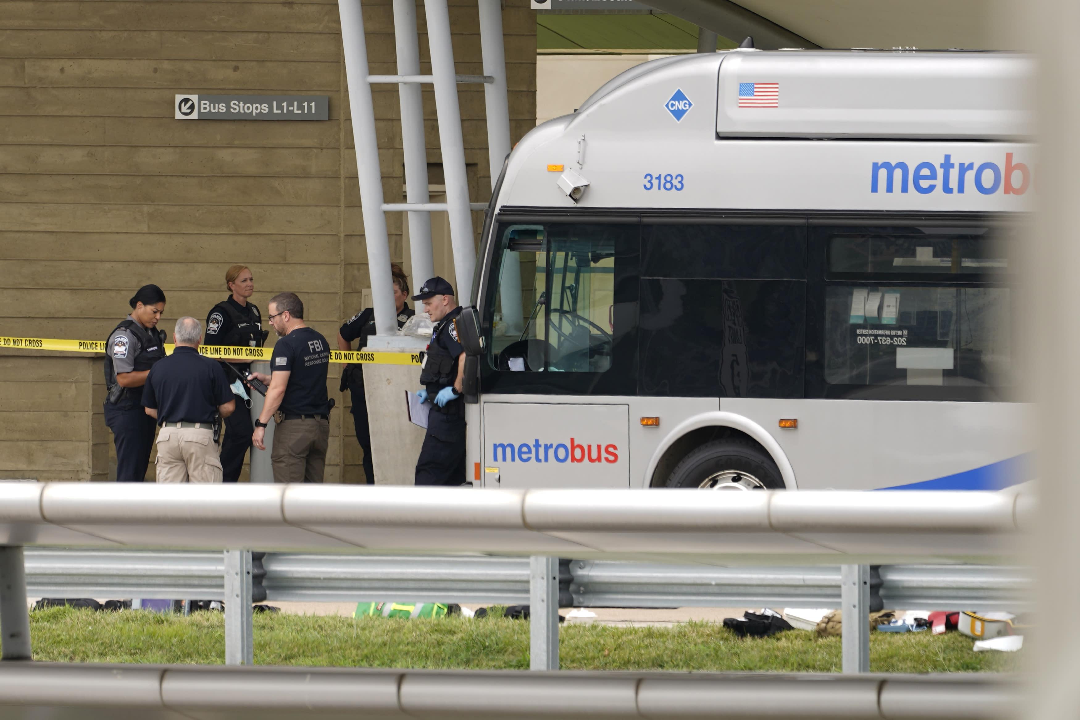 Officer fatally stabbed in violence outside Pentagon