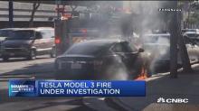 Tesla fire sparks investigation