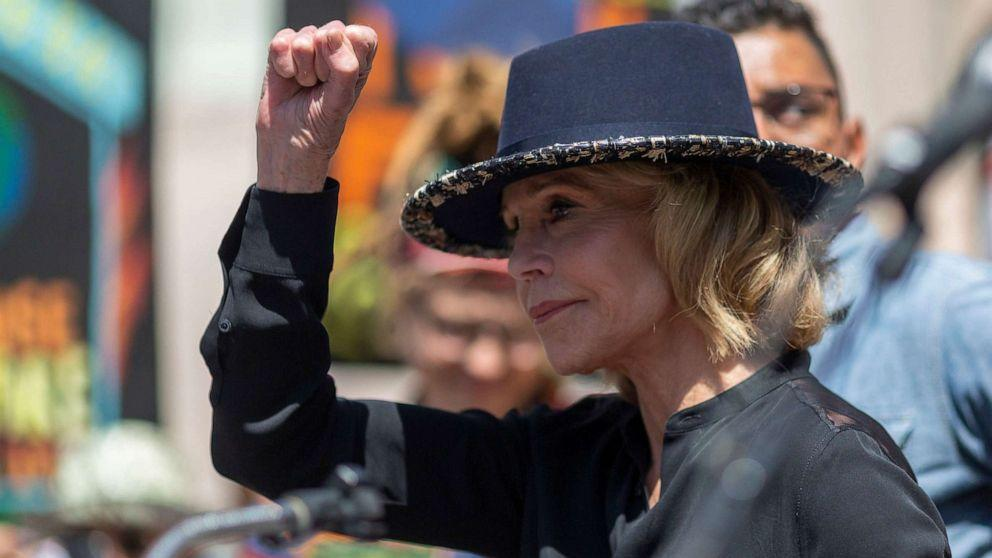 Jane Fonda arrested in climate change strike outside CapitolMore