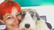 Woman celebrates eighth wedding anniversary to her pet dog