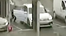 CCTV captures 'horror movie' moment a stranger sneaks into woman's car