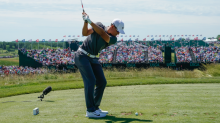 An amateur is bombing his way into contention at the U.S. Open