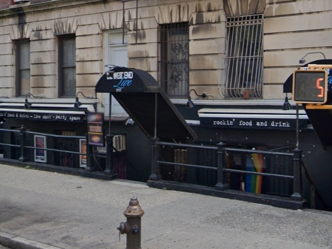 An image of the entrance to the West End Lounge on the Upper West Side.