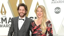Thomas Rhett and Pregnant Wife Lauren Step Out with Daughters on the 2019 CMA Awards Red Carpet