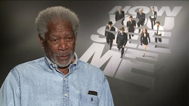 Morgan Freeman Flirts with News Producer