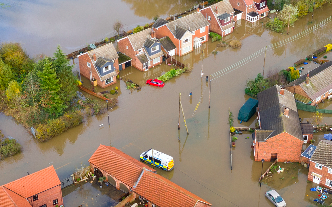 Incredible pictures show scale of flooding devastation as Army sent in to help families