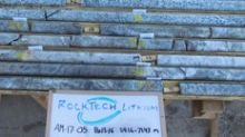 Rock Tech Announces Assay Results from Second Phase of Drill Program