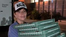 California wildfires: Lady Gaga surprises evacuation shelter with pizza and coffee
