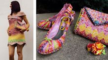 This woman made an entire outfit from Starburst wrappers