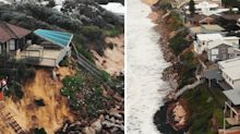 'Like a war zone': Residents fear coastal homes will collapse into sea