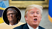 Bill Gates says Trump speaks in the 3rd person in a leaked video from a Gates Foundation meeting