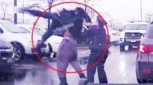 Disturbing video shows footballer body-slam police officer during arrest