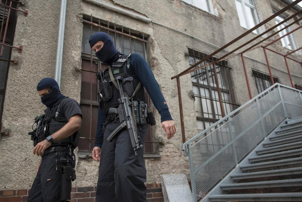 German police have carried out raids in Berlin targeting individuals suspected of inciting people to fight for the Islamic State group in Syria (AFP Photo/Odd Andersen)