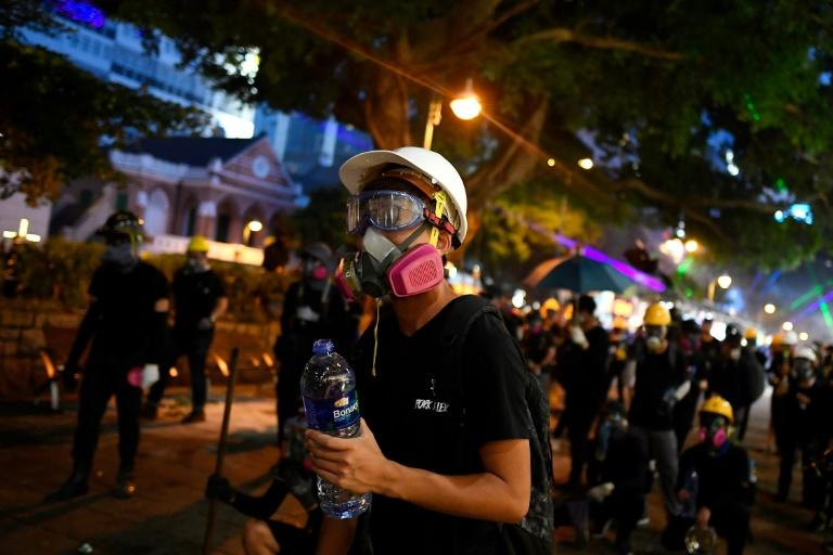 Ai's bleak warning comes after two months of protests in Hong Kong that have turned increasingly violent (AFP Photo/Manan VATSYAYANA)