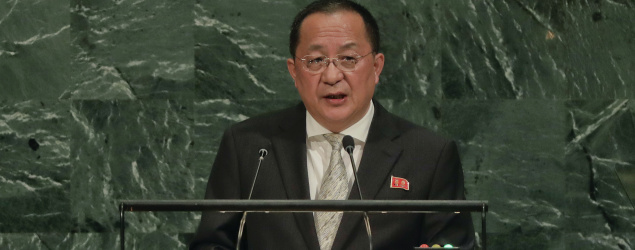 North Korean Foreign Minister Ri Yong Ho. (AP)