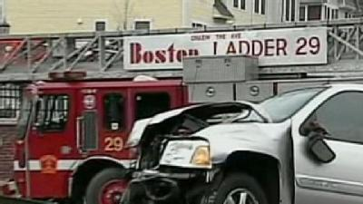 Fire Truck, SUV Collide In City