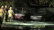 Arson suspected in Abington church parking lot fire