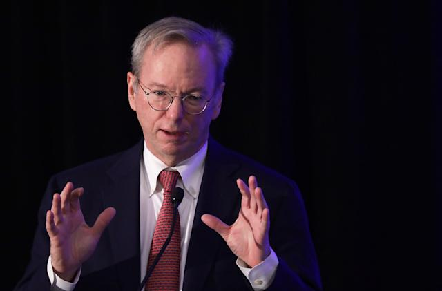 Eric Schmidt reportedly left Google in February