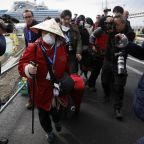 Four Britons on board cruise ship in Japan test positive for coronavirus