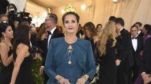 Lynda Carter, 66, looks regal in gold crown at the Met Gala