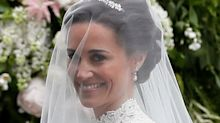 Pippa Middletonrecycles diamond earrings originally commissioned for Duchess of Cambridge's wedding as she weds James Matthews