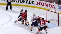 Neal redirects his second goal of the game