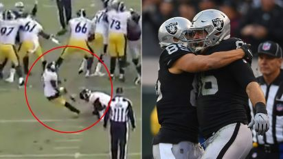Drama as NFL player slips during crucial late kick