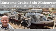 Cruise Ship Gets Sliced In Half For Extreme Makeover