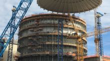 Vogtle Unit 3 shield building roof set