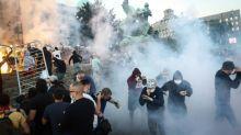Serbian president accuses 'hooligans' of violent protests