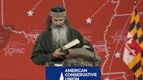 """Carry your bible with you, and your woman""- Duck Dynasty star to CPAC"