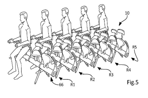 "<p>Airbus' 2014 patent for <a href=""http://travel.aol.co.uk/2014/07/15/airbus-reveals-bicycle-seats-planes-picture/"" target=""_blank"">bicycle-style plane seats</a> would mean a less comfortable flying experience and with more passengers packed in. The seats have no tray, headrest or much legroom, but just a small backrest. They are fastened to a vertical bar and retract to increase space when not in use. The patent was submitted with budget airlines in mind.</p>"