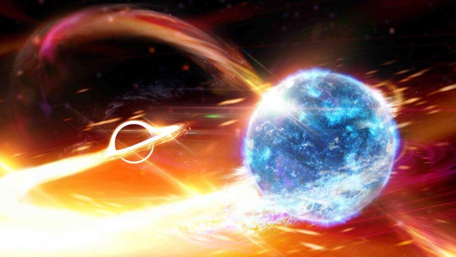 Scientists detect a black hole swallowing a neutron star 'like Pac-man'