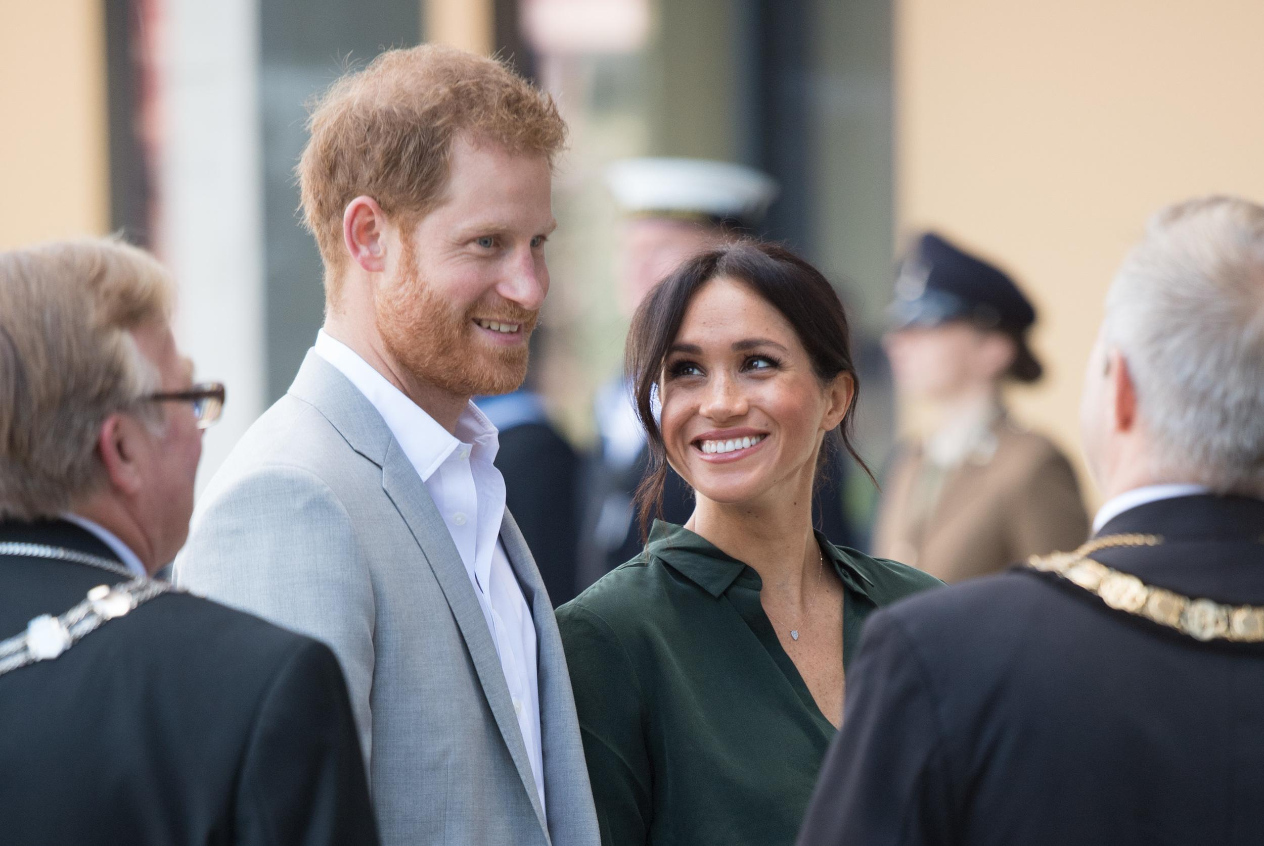 The Duke and Duchess of Sussex depart during a visit to the University of Chichester, Bognor Regis, West Sussex, as part of their first joint official visit to Sussex.