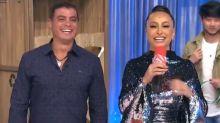 """Dhomini reencontra Sabrina Sato no 'Domingo Show': """"Você beija muito bem"""""""
