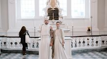 Queer, polyamorous couple traded traditional wedding garb for 'gender-bending' ensembles