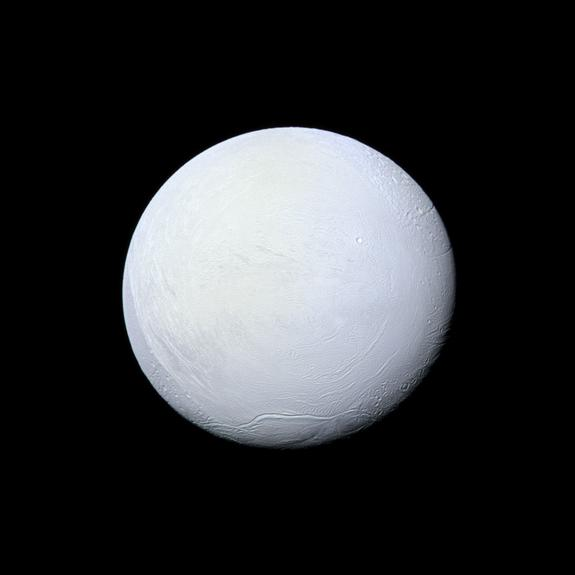 NASA's Cassini spacecraft captured this view of Saturn's moon Enceladus on March 10, 2012.