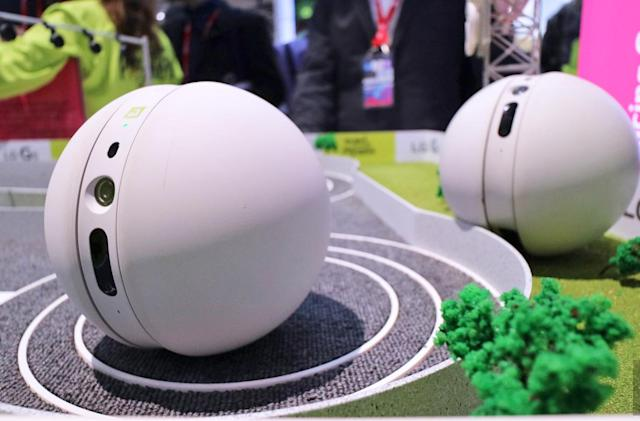 LG's cute Rolling Bot takes a casual stroll at MWC