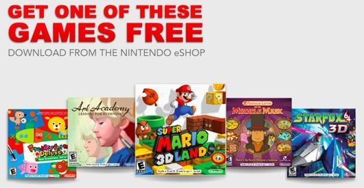 Buy a 3DS XL and Luigi's Mansion or Pokemon Mystery Dungeon, get a free game