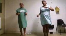 Dupla de grávidas dança ao som de Despacito para agilizar parto e viraliza
