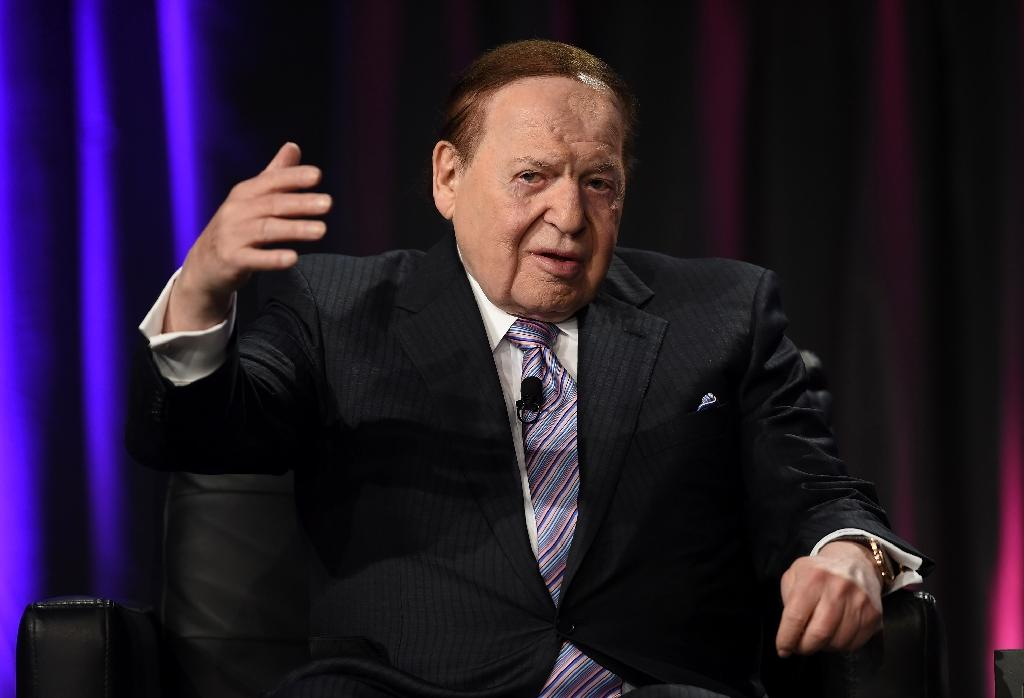 Jewish-American casino magnate Sheldon Adelson is the billionaire owner of Israel's HaYom newspaper (AFP Photo/Ethan Miller)