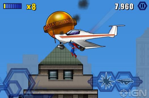 The Man of Steel returns to video games ... on iOS