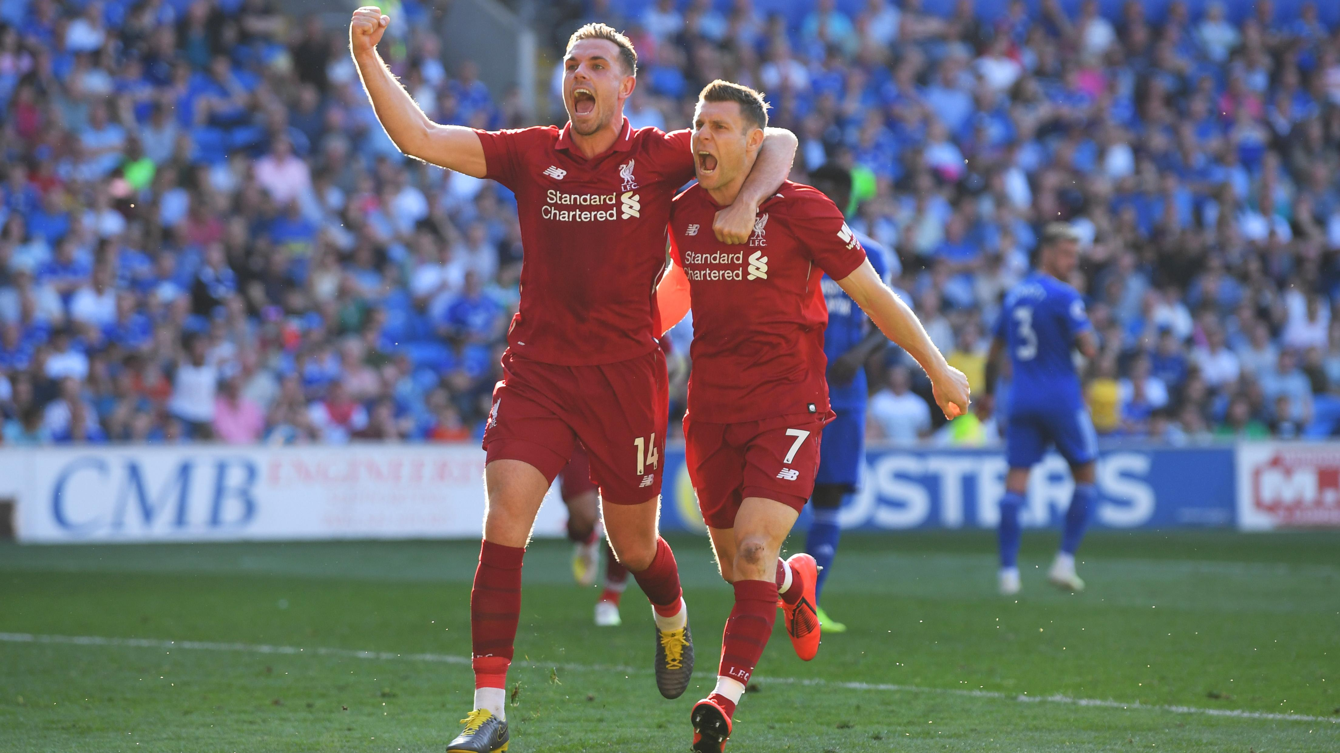 Milner's penalty kick doubles Liverpool's lead