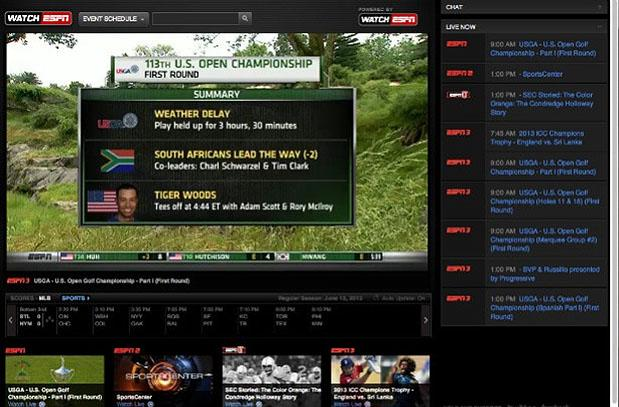 ESPN launches more second screen coverage with golf's US Open