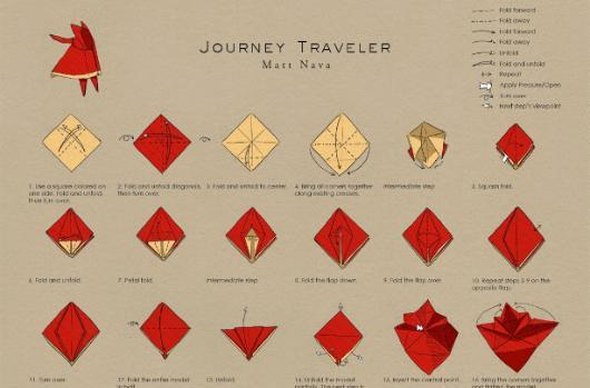 Craft your own paper Journey traveler