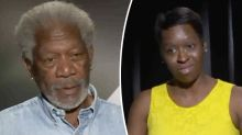 'I get to look at you and drool': Unearthed video of Morgan Freeman