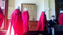 Women protested abortion laws in Texas wearing 'Handmaid's Tale' robes